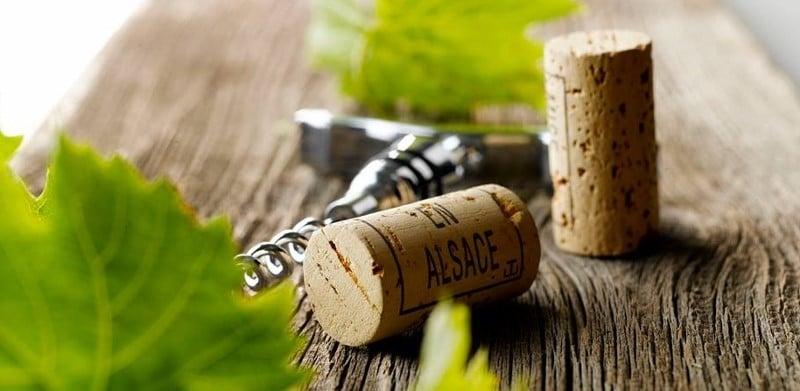 Bouchons d'Alsace et tire-bouchon