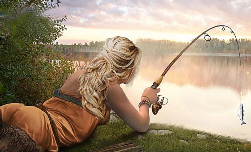 Pêche à la truite (dessin)