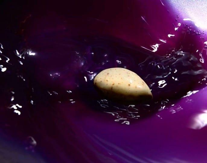 Gaspacho de chou rouge à la glace moutarde à l'ancienne par Heston Blumenthal
