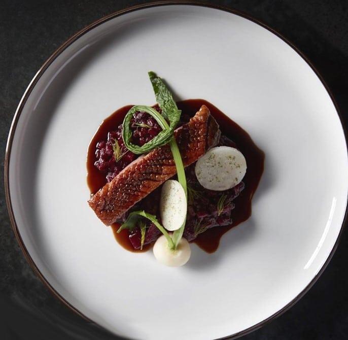 Poitrine de canard, riz sauvage et chicorée braisée par Heston Blumenthal
