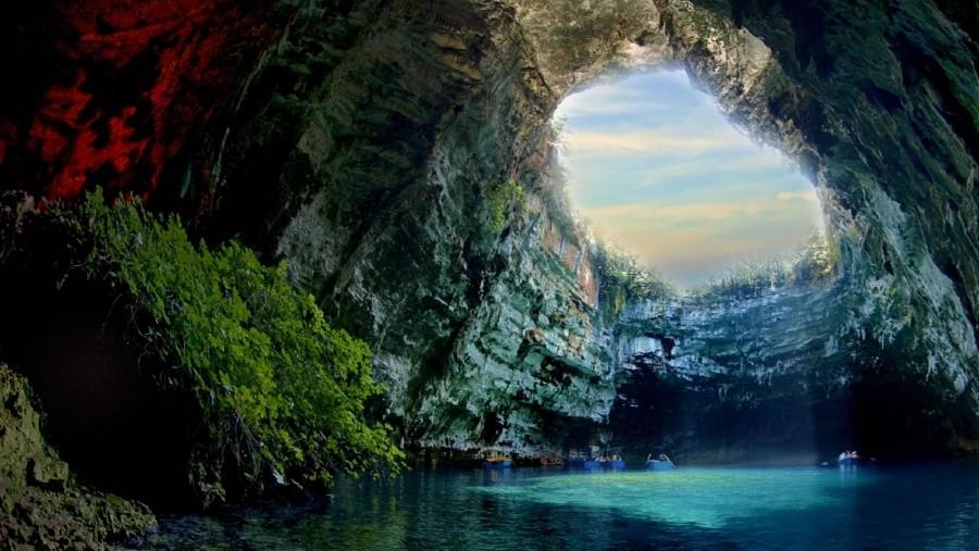 Grotte de Melissani à sur l'île de Céphalonie