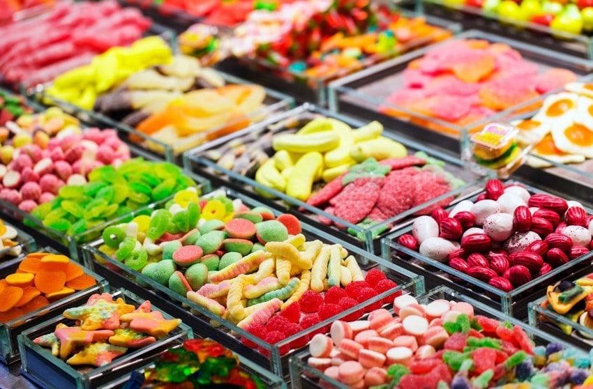 Bonbons à l'étal